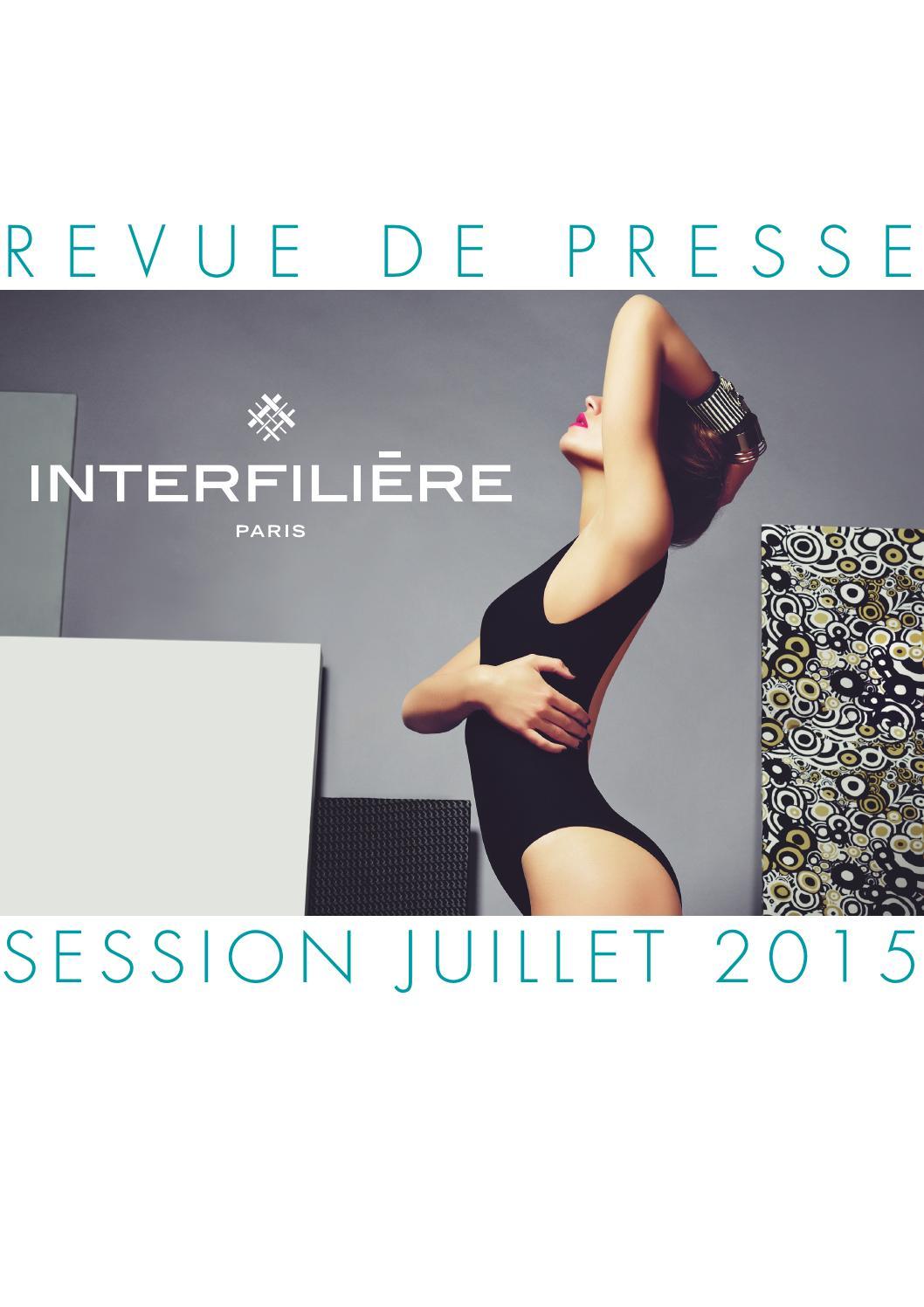 Revue De Presse Interfiliere Paris Juillet 2015 By Claire Correia