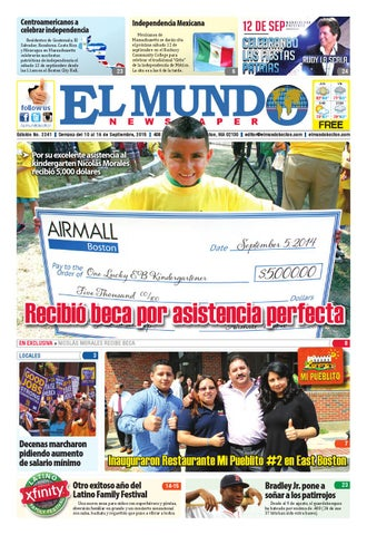 El Mundo Newspaper   No. 2241   09/10/15 by El Mundo Boston ...