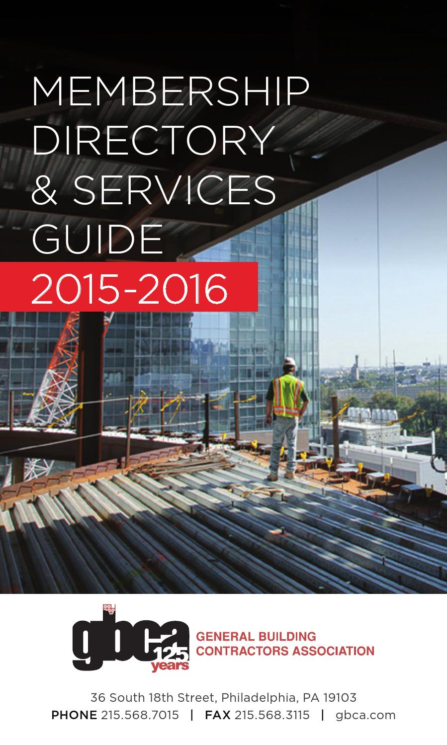 2015/ 2016 GBCA Membership Directory & Services Guide by