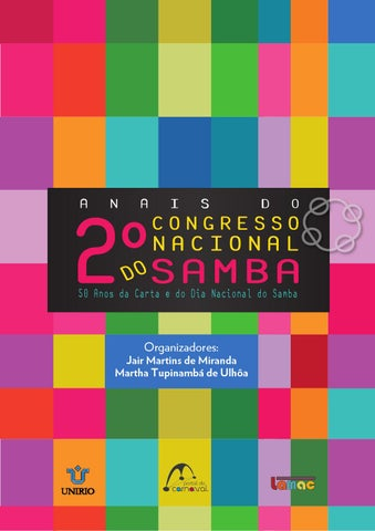 f29e40fb2c8b5 Anais do 2º Congresso Nacional do Samba by Portal Academia do Samba ...