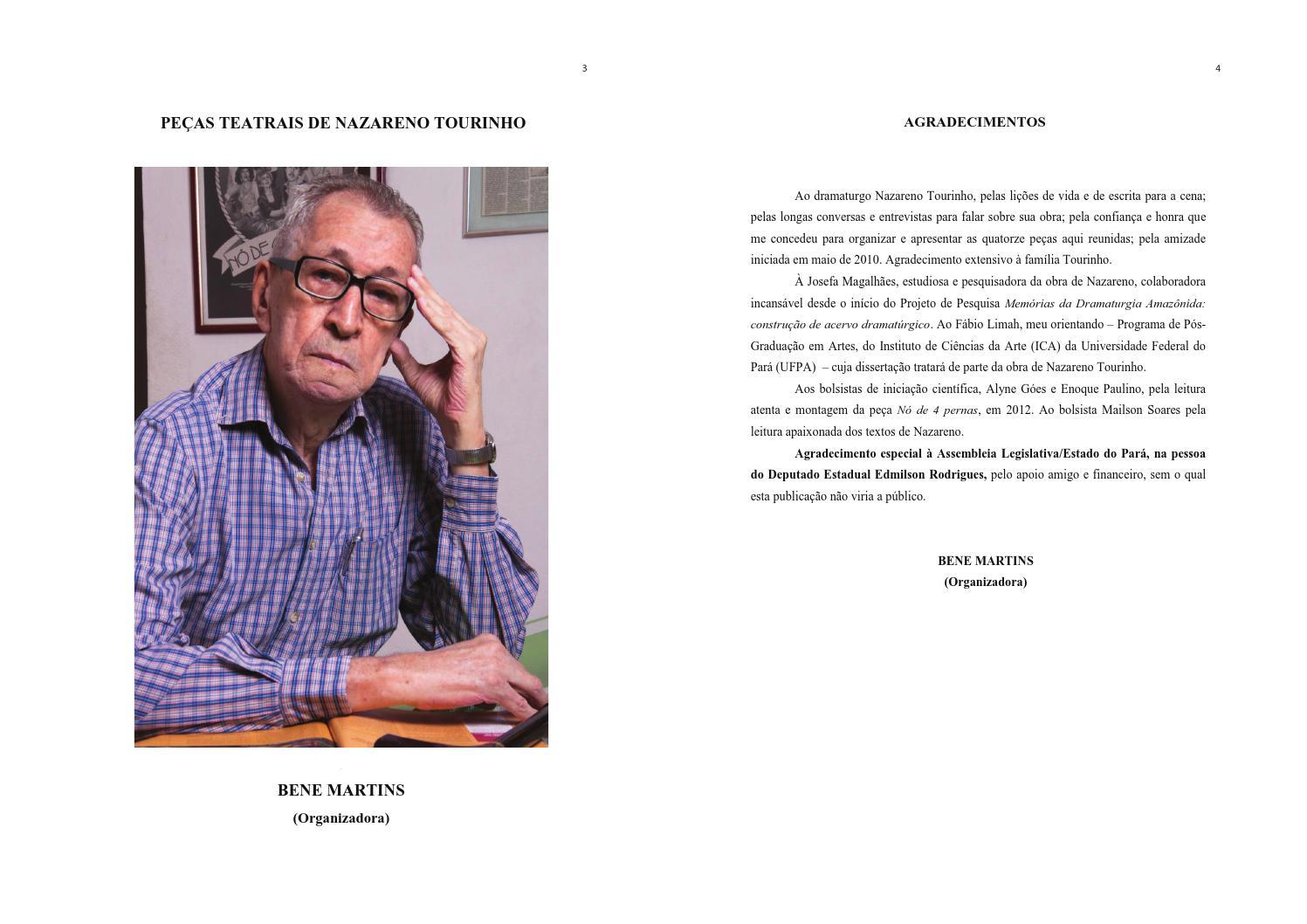 461844957b803 Peças Teatrais de Nazareno Tourinho 2 por folha by Nazareno Tourinho - issuu