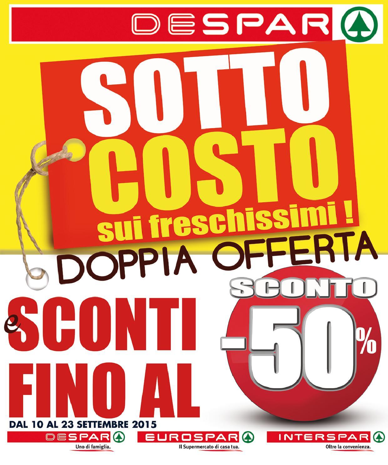 Volantino despar 10 23 settembre 2015 by despar messina for Volantino despar messina e provincia