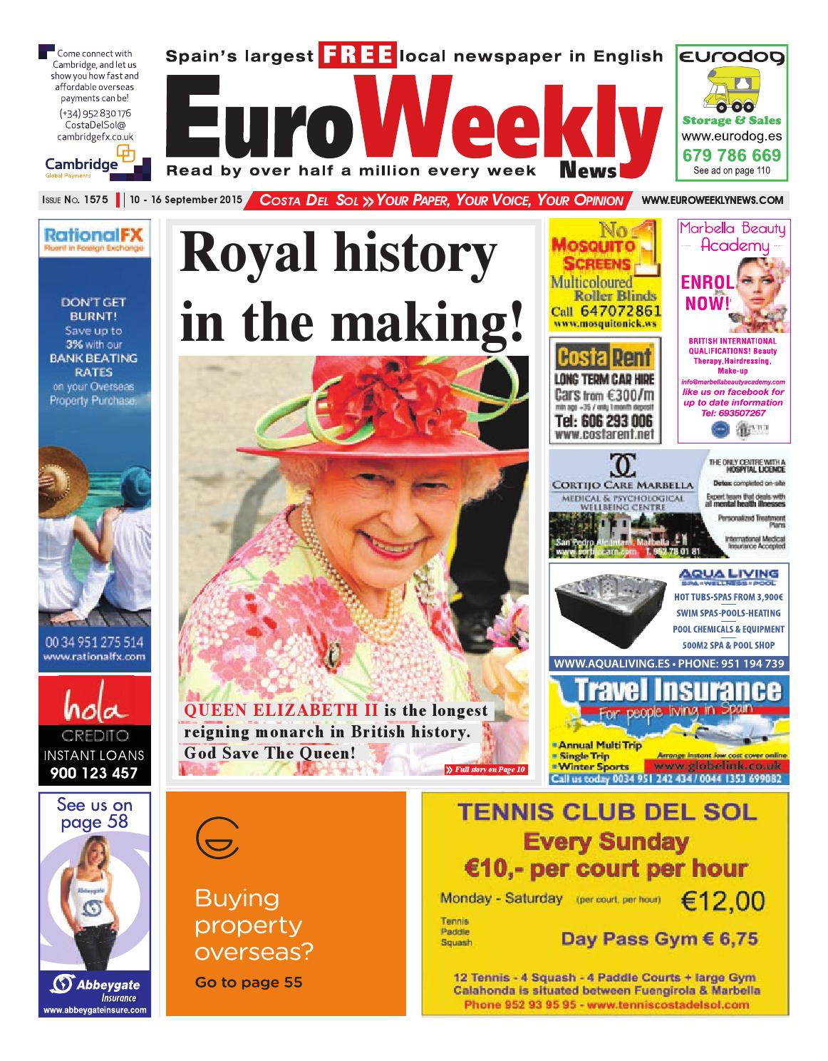 Euro Weekly News Costa Del Sol 10 16 September 2015 Issue 1575