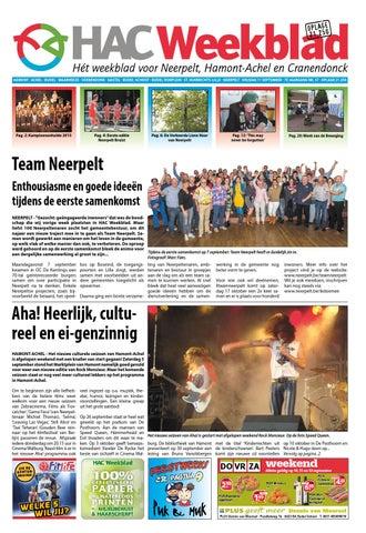 HAC Neerpelt week 37 2015 by HAC Weekblad - issuu