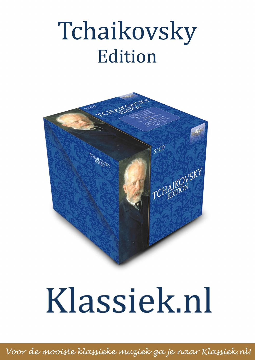 Tchaikovsky Edition By Klassieknl Issuu