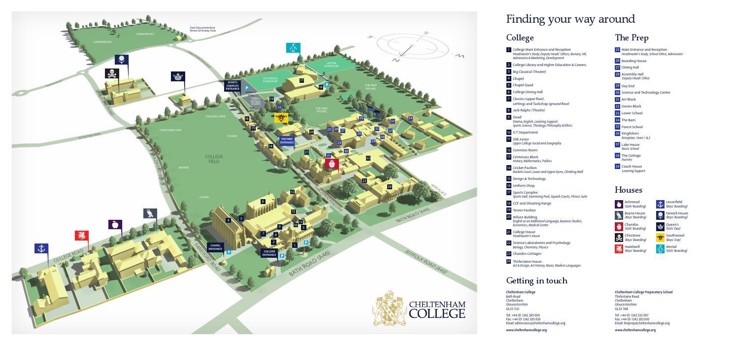 . campus map by cheltenham college  issuu