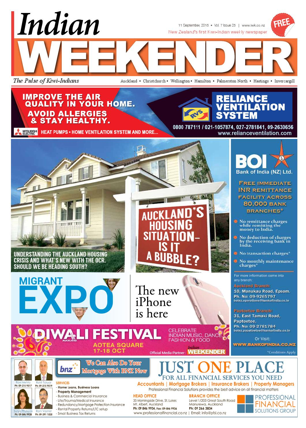 Indian Weekender 11 September 2015 Vol 7 Issue 25 by Swati