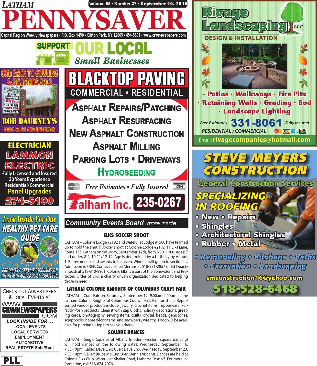 latham pennysaver 091015 by capital region weekly newspapers issuu