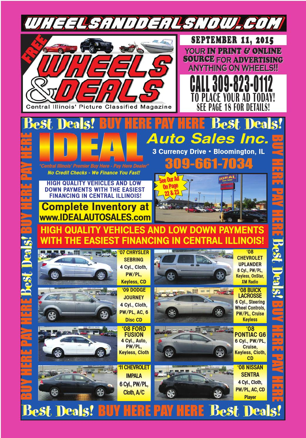 September 11, 2015 by Wheels and Deals - issuu
