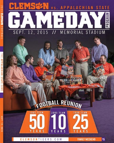 4598b8508970 2015 Clemson vs. Appalachian State Football Gameday Program by ...