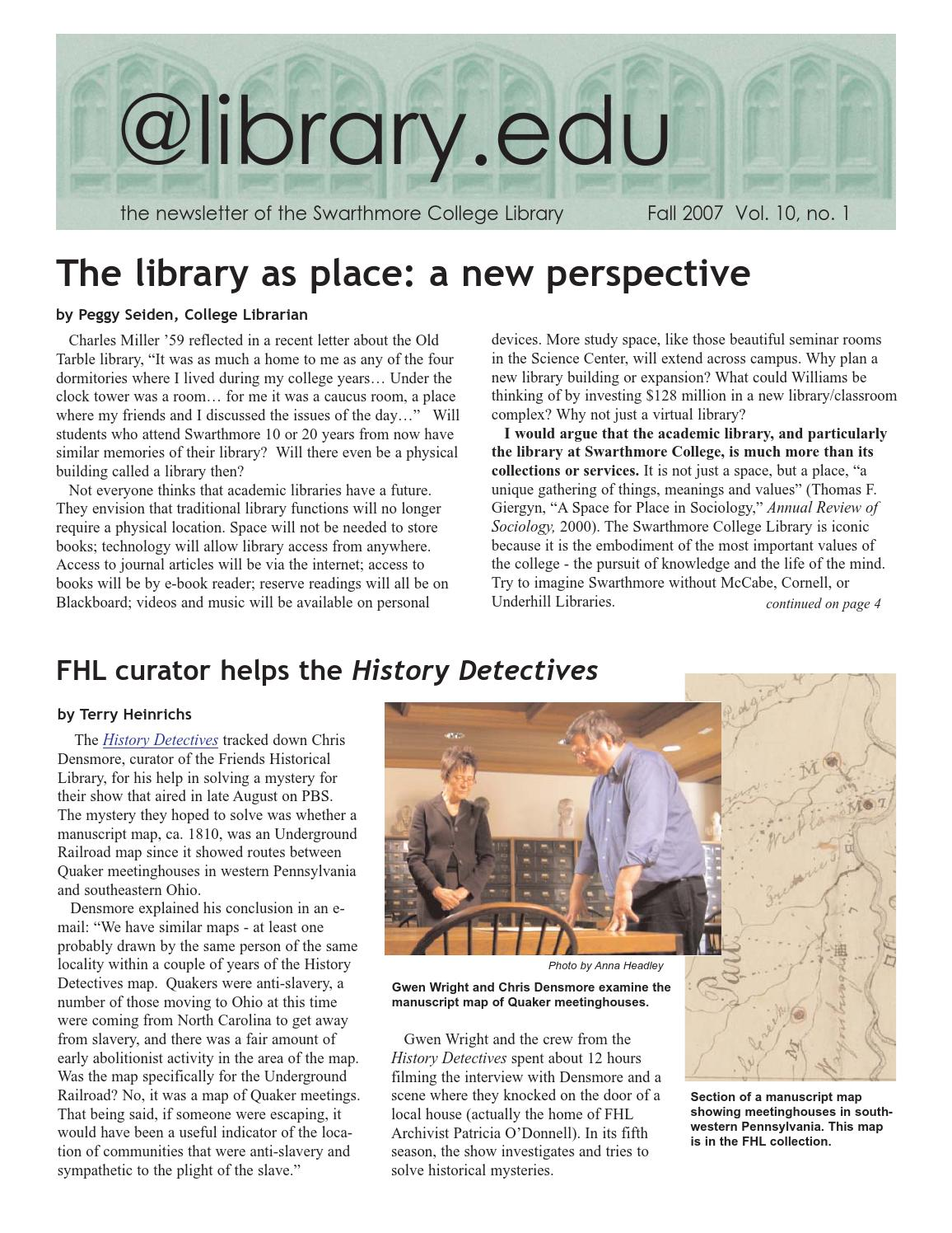 library edu by Swarthmore College Libraries - issuu