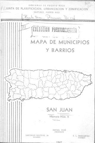 Municipio De San Juan Memoria Suplementaria Al Mapa De Límites Del