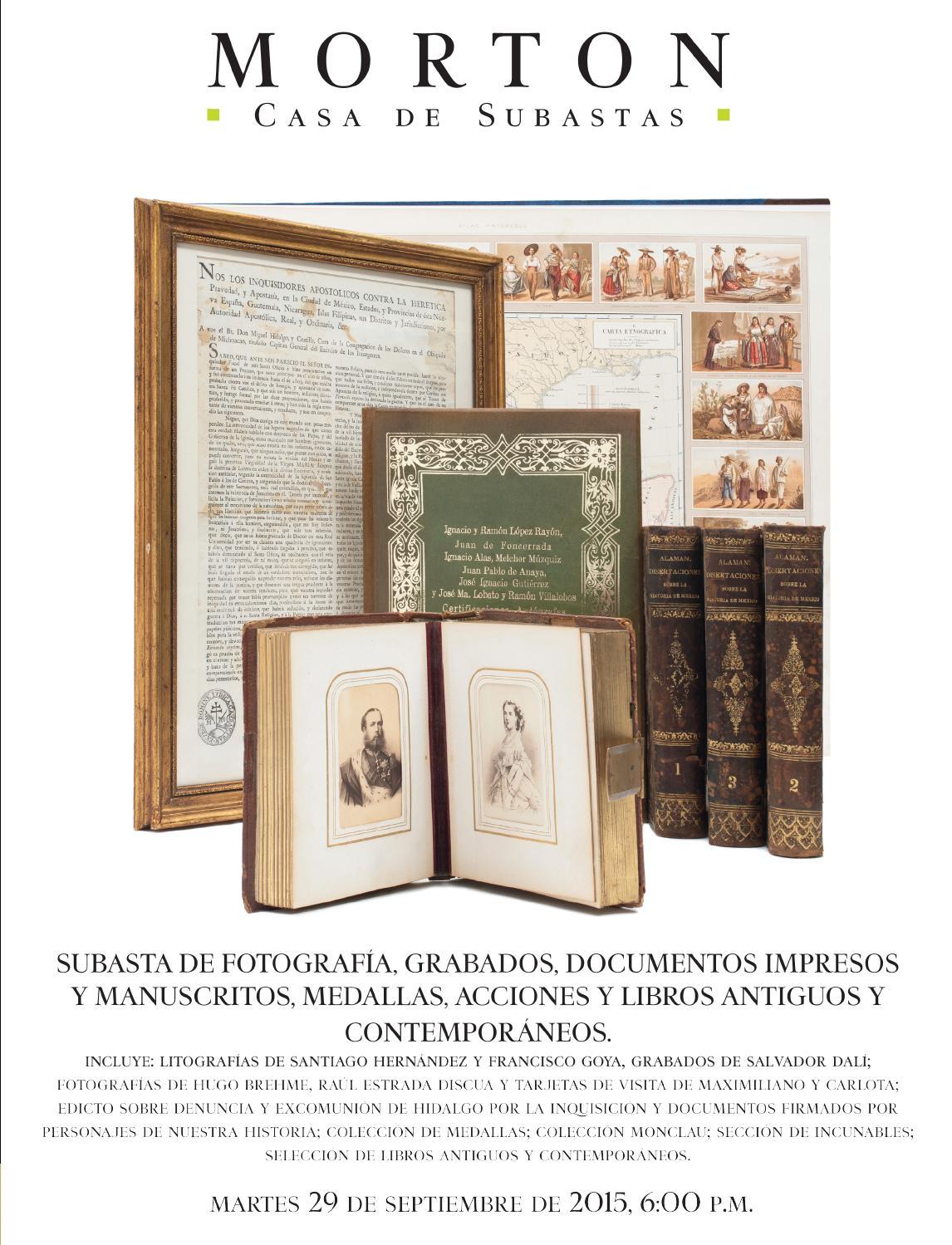 Subasta de Libros y Documentos by Morton Subastas - issuu