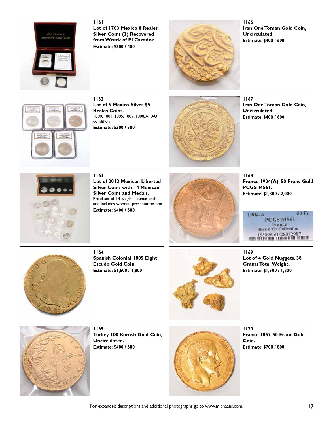 Rare Worldwide Coins & Currency Auction by Michaan's