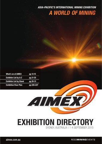 9563d98b7a AIMEX Exhibition Directory 2015 by Reed Exhibitions AU - issuu
