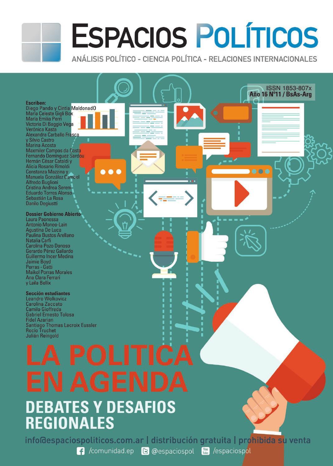 Revista XI Espacios Políticos by Espacios Políticos - issuu