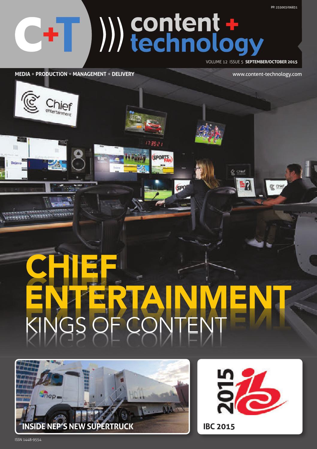 Content+Technology ANZ September-October 2015 by Broadcastpapers Pty