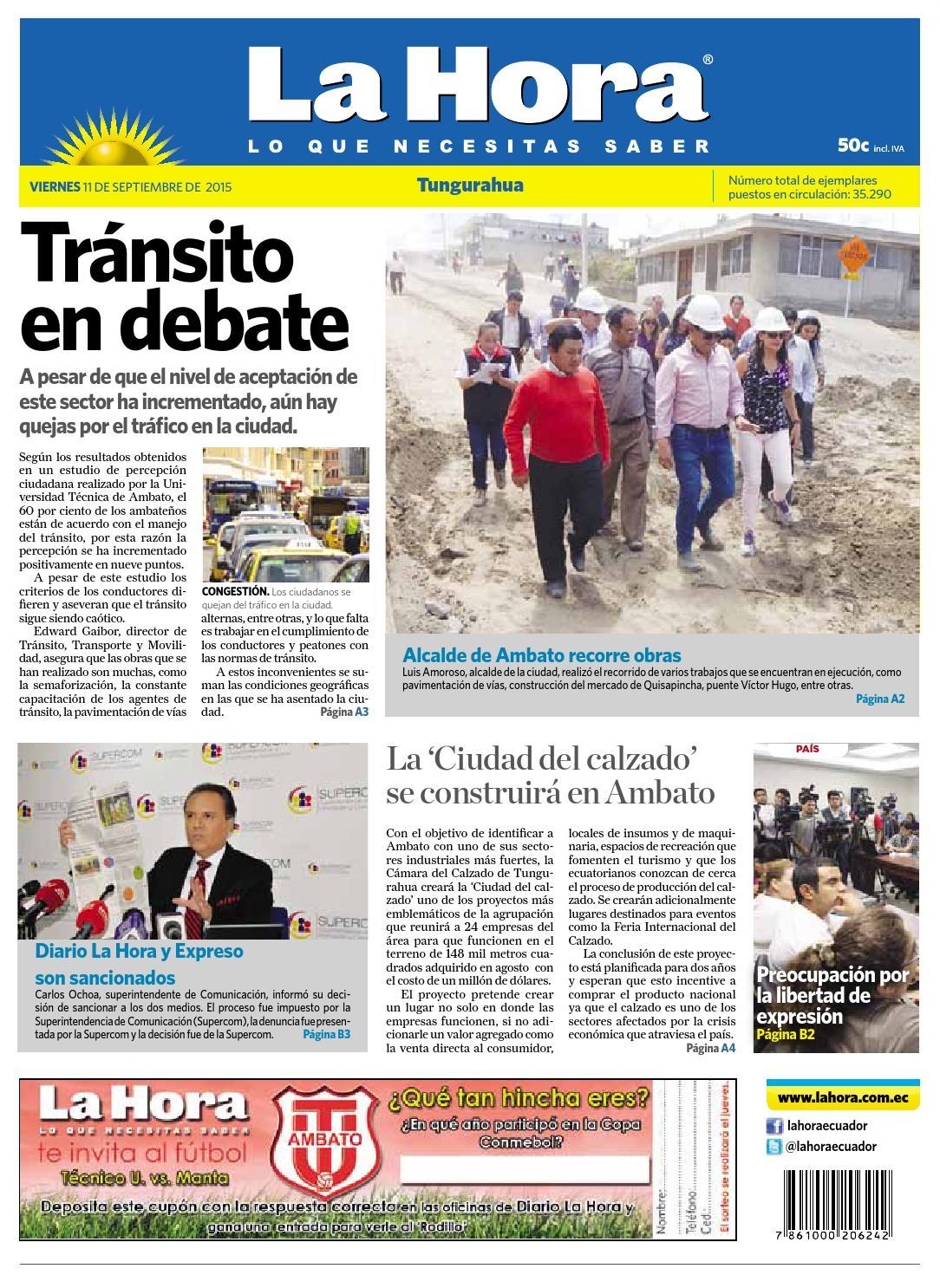 3488125e Ambato11septiembre2015 by Diario La Hora Ecuador - issuu