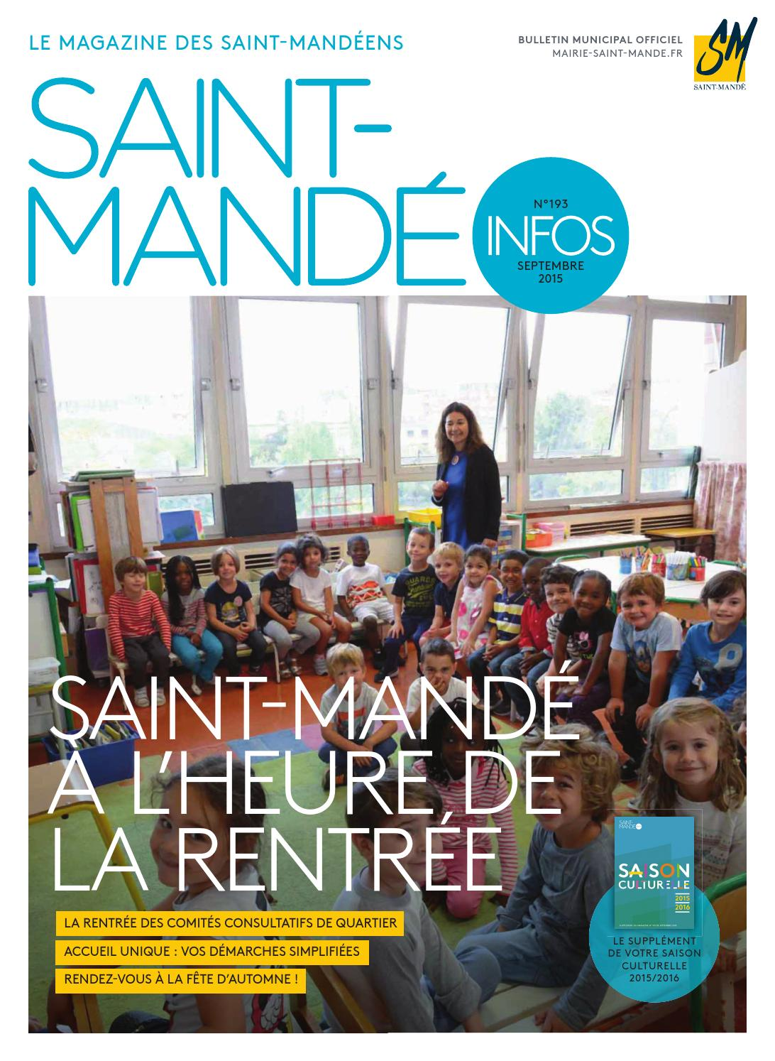 Saint mand infos by mairie de saint mand issuu for Piscine saint mande
