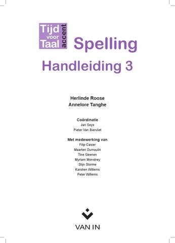Favoriete Tijd voor Taal accent - Spelling - Handleiding 3 @JQ83