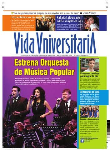 Vida Universitaria UANL No. 261 by Vida Universitaria - issuu 4706358a10d87