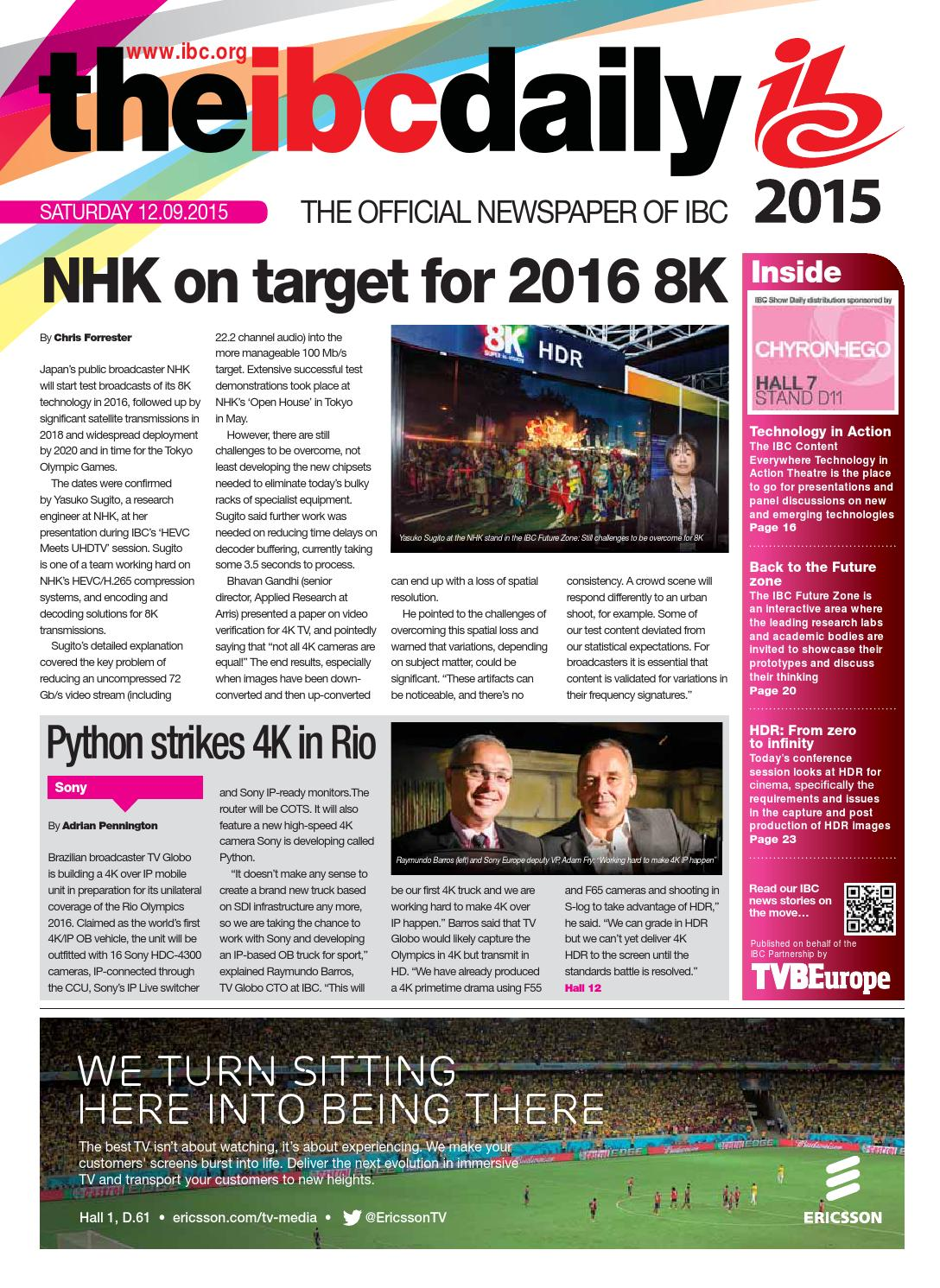 IBC2015 Daily D2 Saturday 12 September by Future PLC - issuu