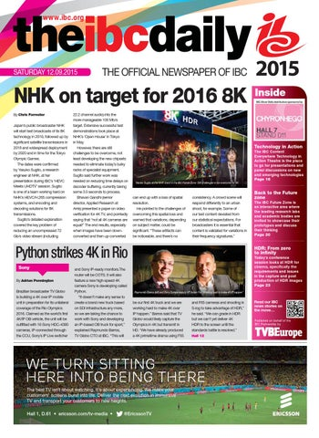 Ibc2015 daily d2 saturday 12 september by future plc issuu page 1 malvernweather Choice Image