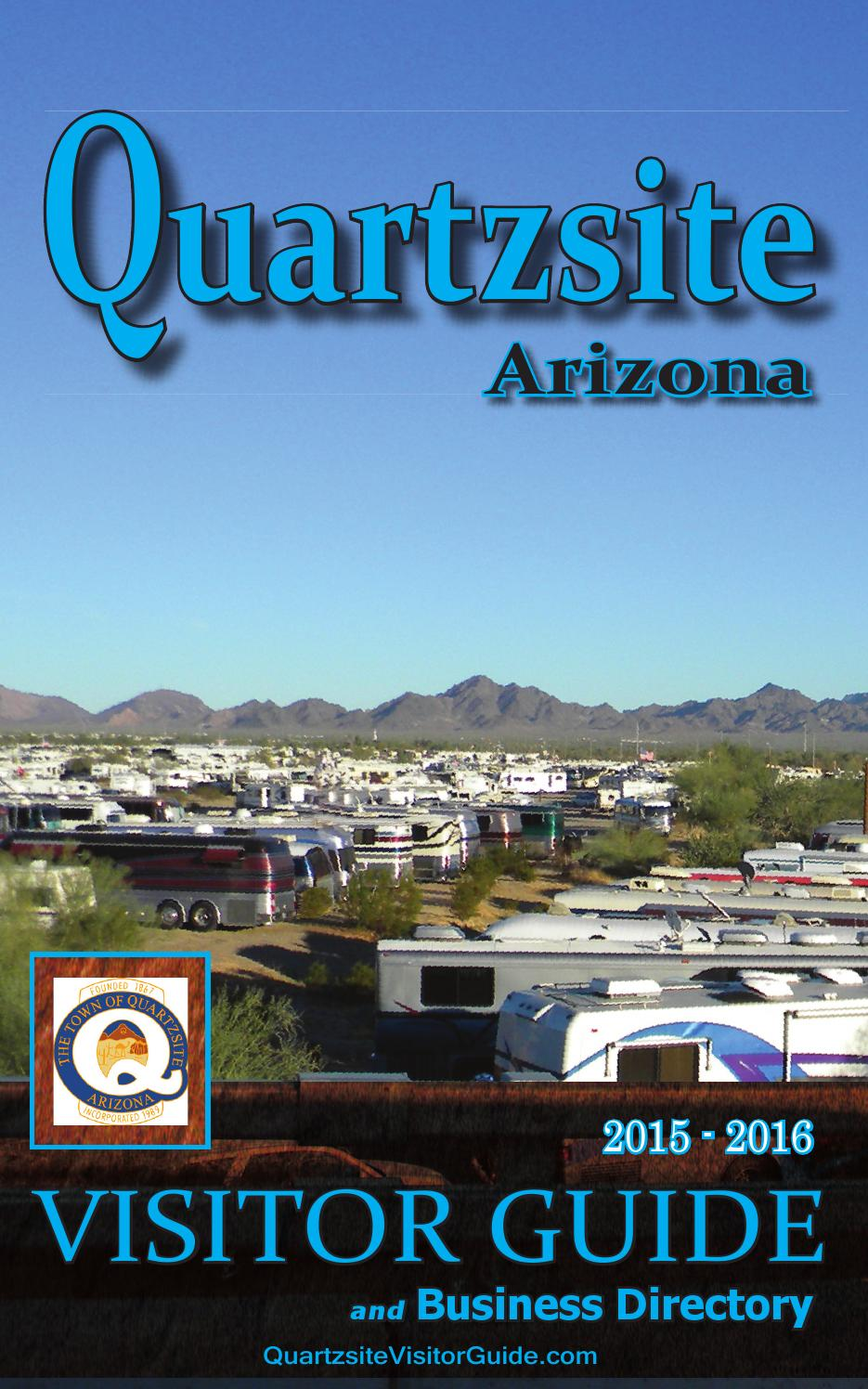 Quartzsite Visitor Guide 2015 16 By Desert Messenger Issuu