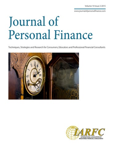 journal of personal finance vol 14 issue2 by iarfc issuu