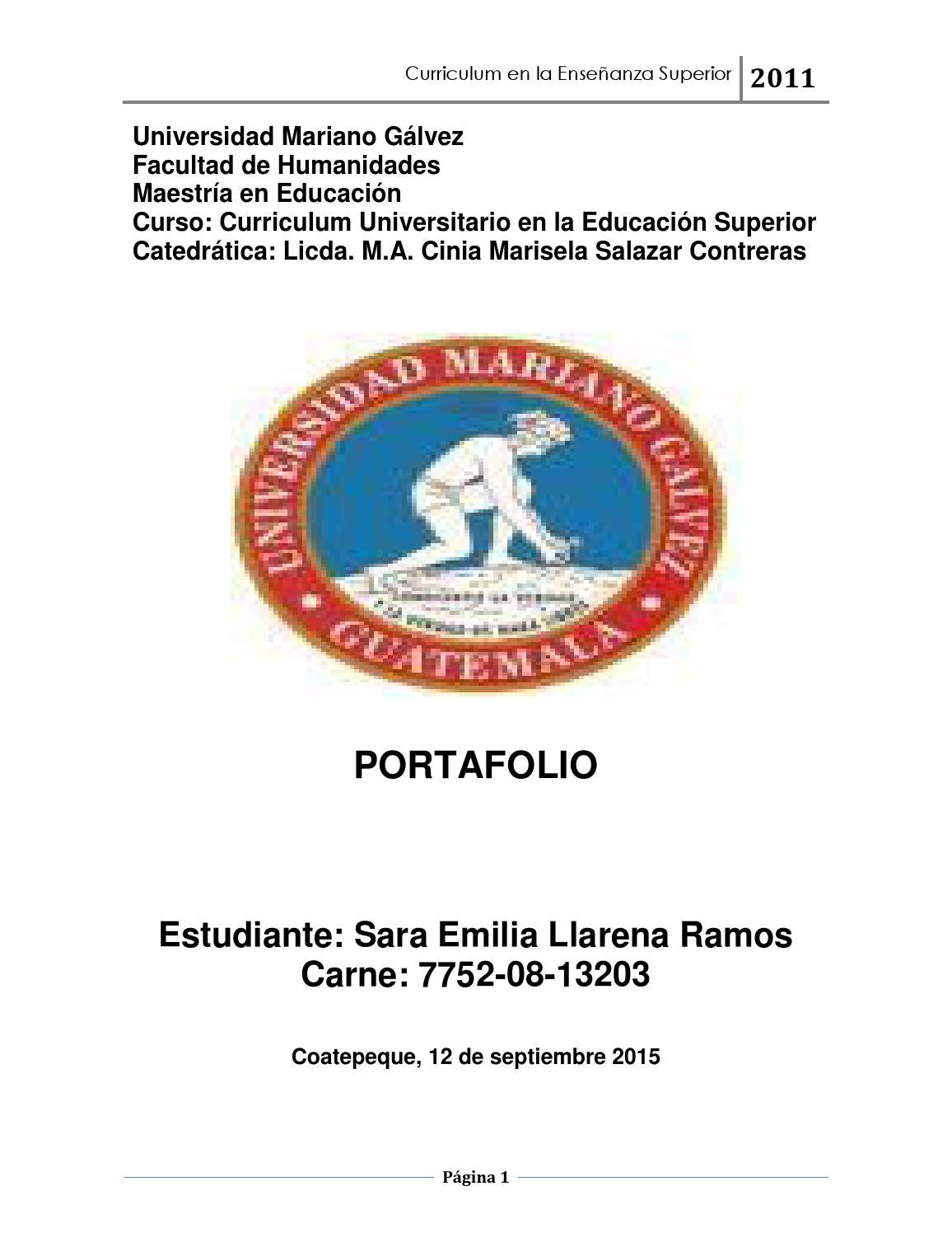 Portafolio curso de curriculo by Sara Emilia Llarena - issuu