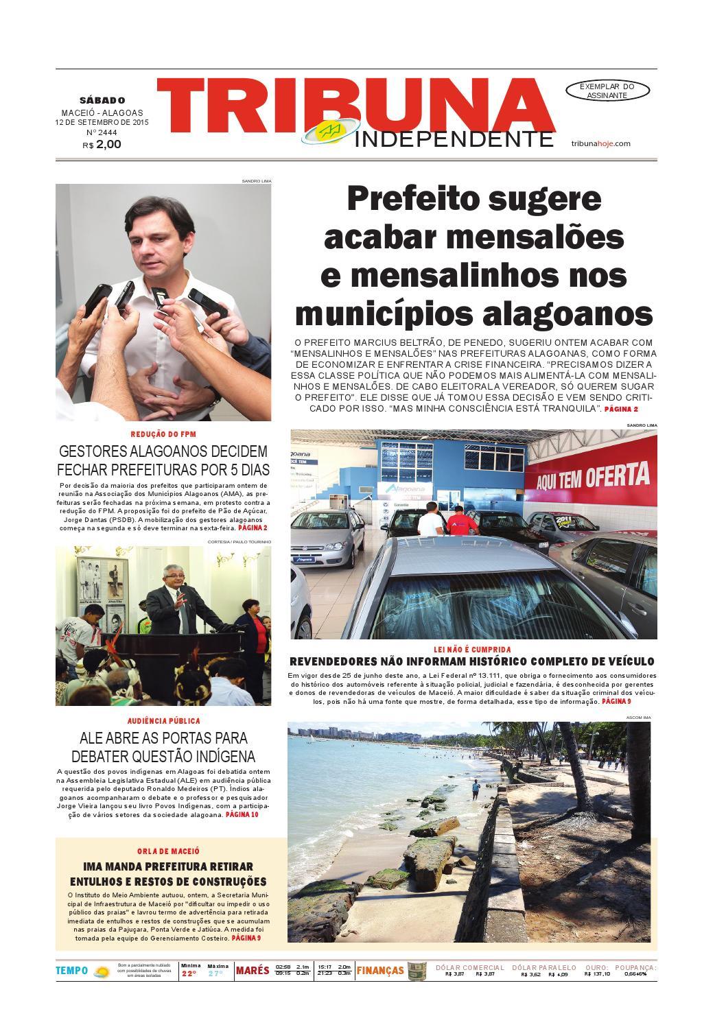 Edição número 2444 - 12 de setembro de 2015 by Tribuna Hoje - issuu c3fca97326
