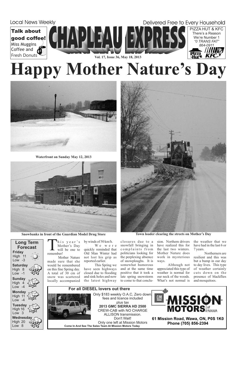 05182013 May 18 2013 by The Chapleau Express - issuu