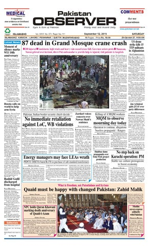 Ep28sept2015 by Pakistan Observer - issuu