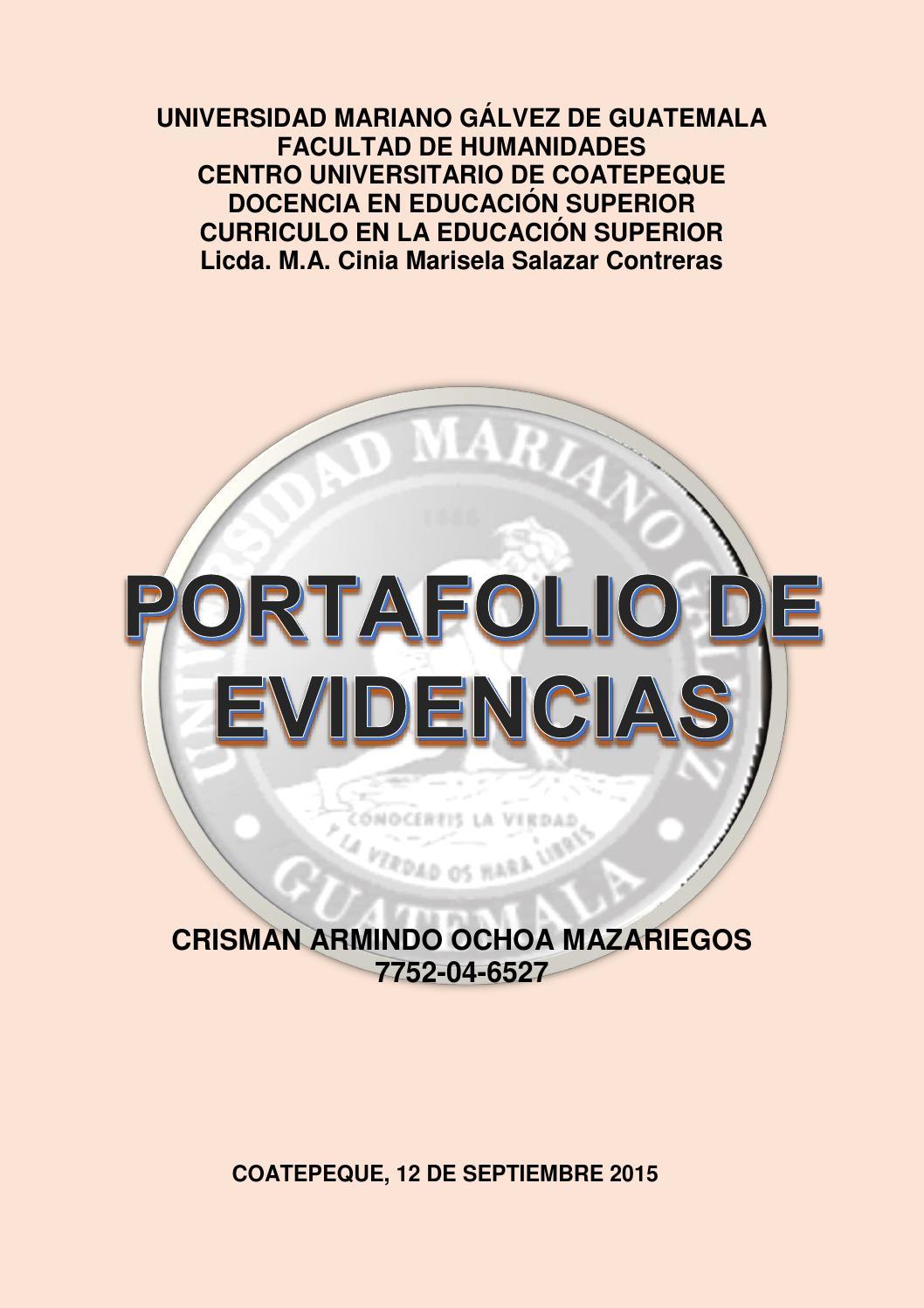 Portafolio curriculum Educación Superior 2015 by Crisman Ochoa - issuu