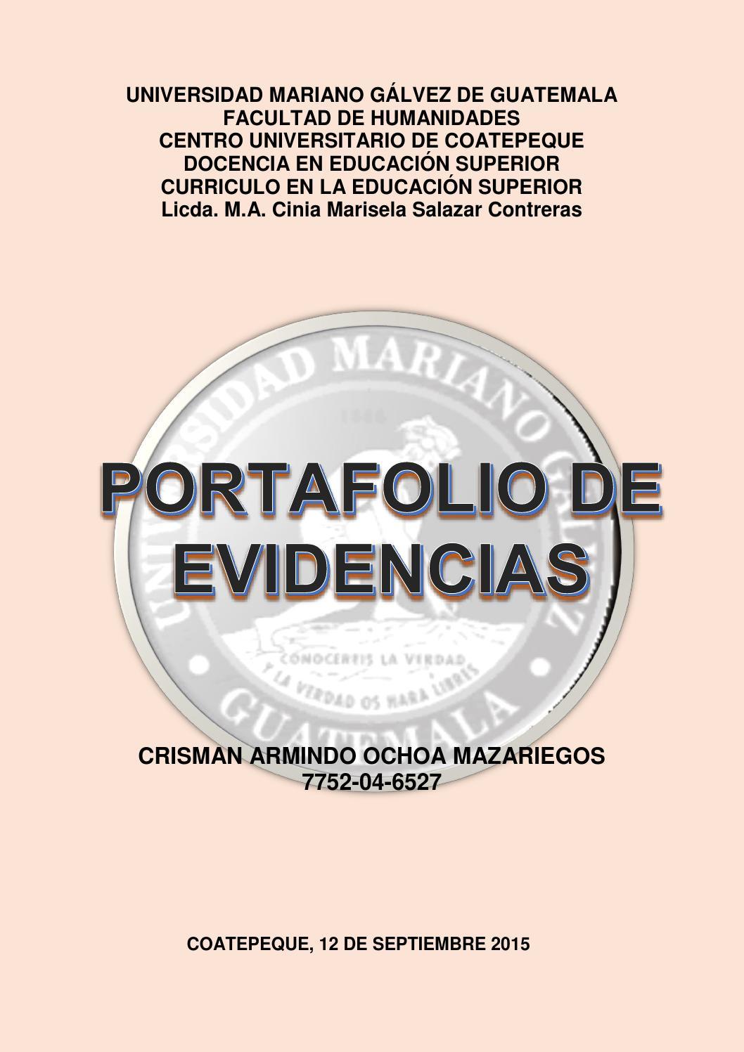 Portafolio virtual Curriculum de Educación Superior by Crisman Ochoa ...