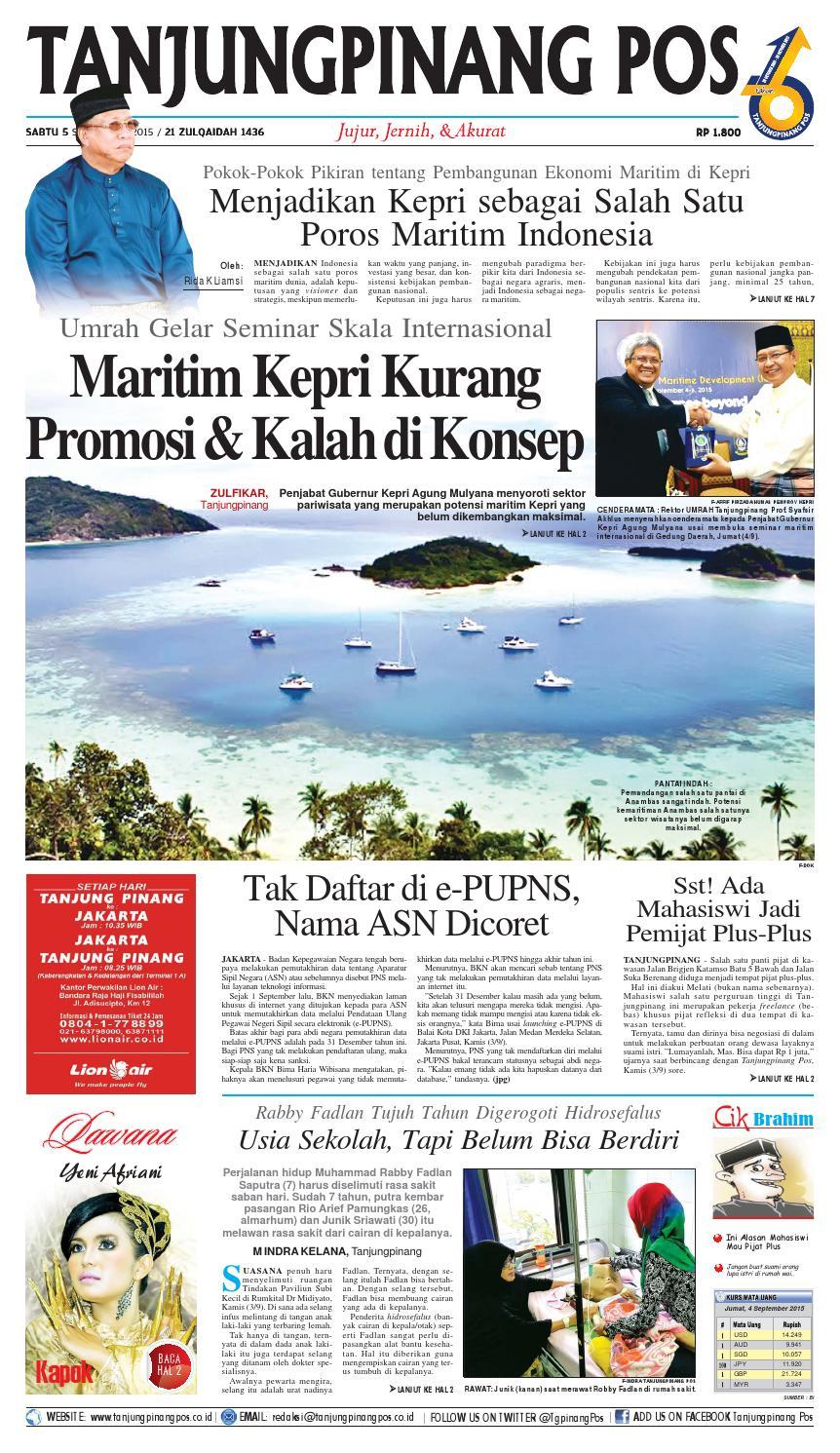epaper tanjungpinang pos 5 september 2015 by