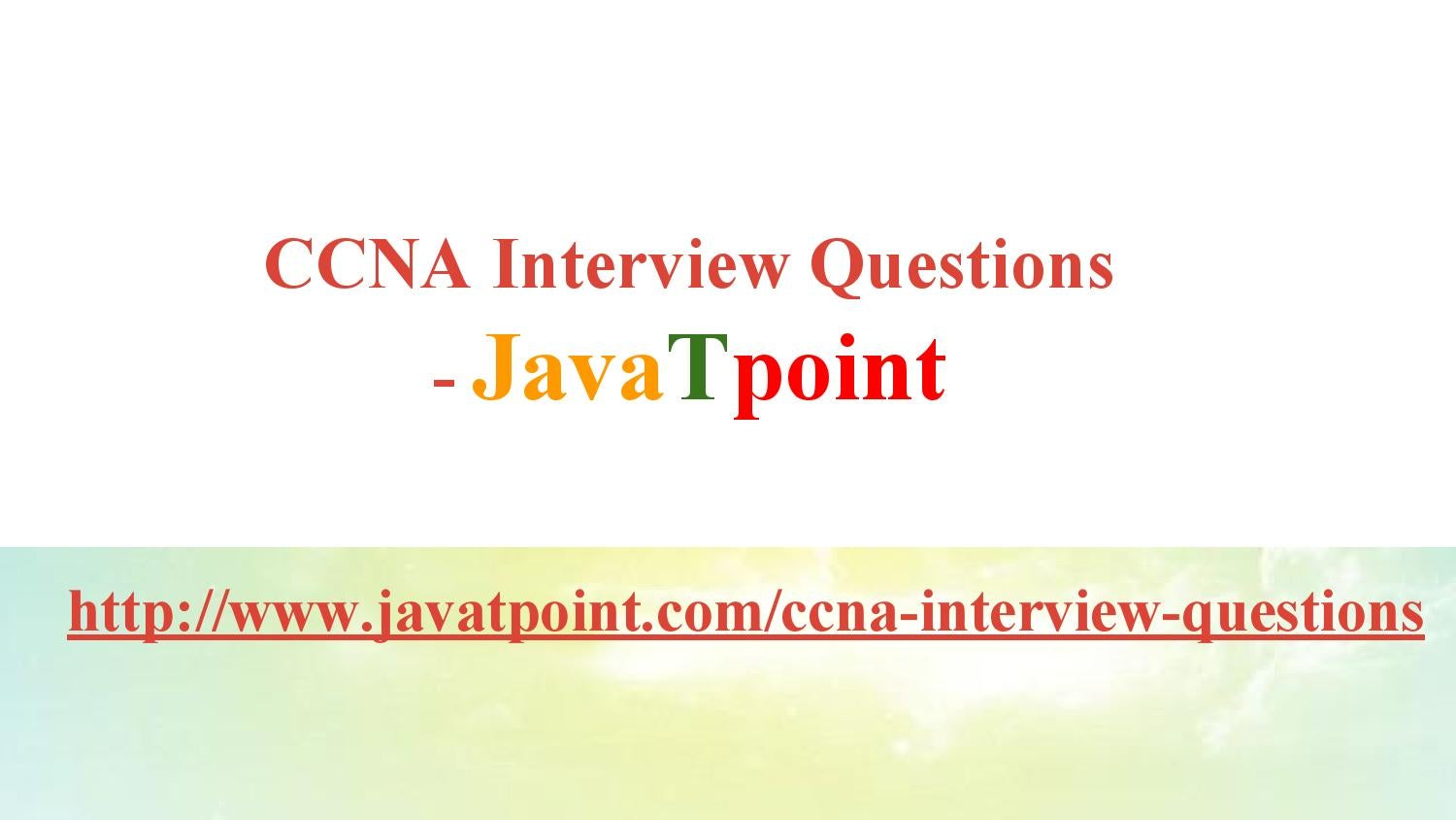 Interview pdf javatpoint questions