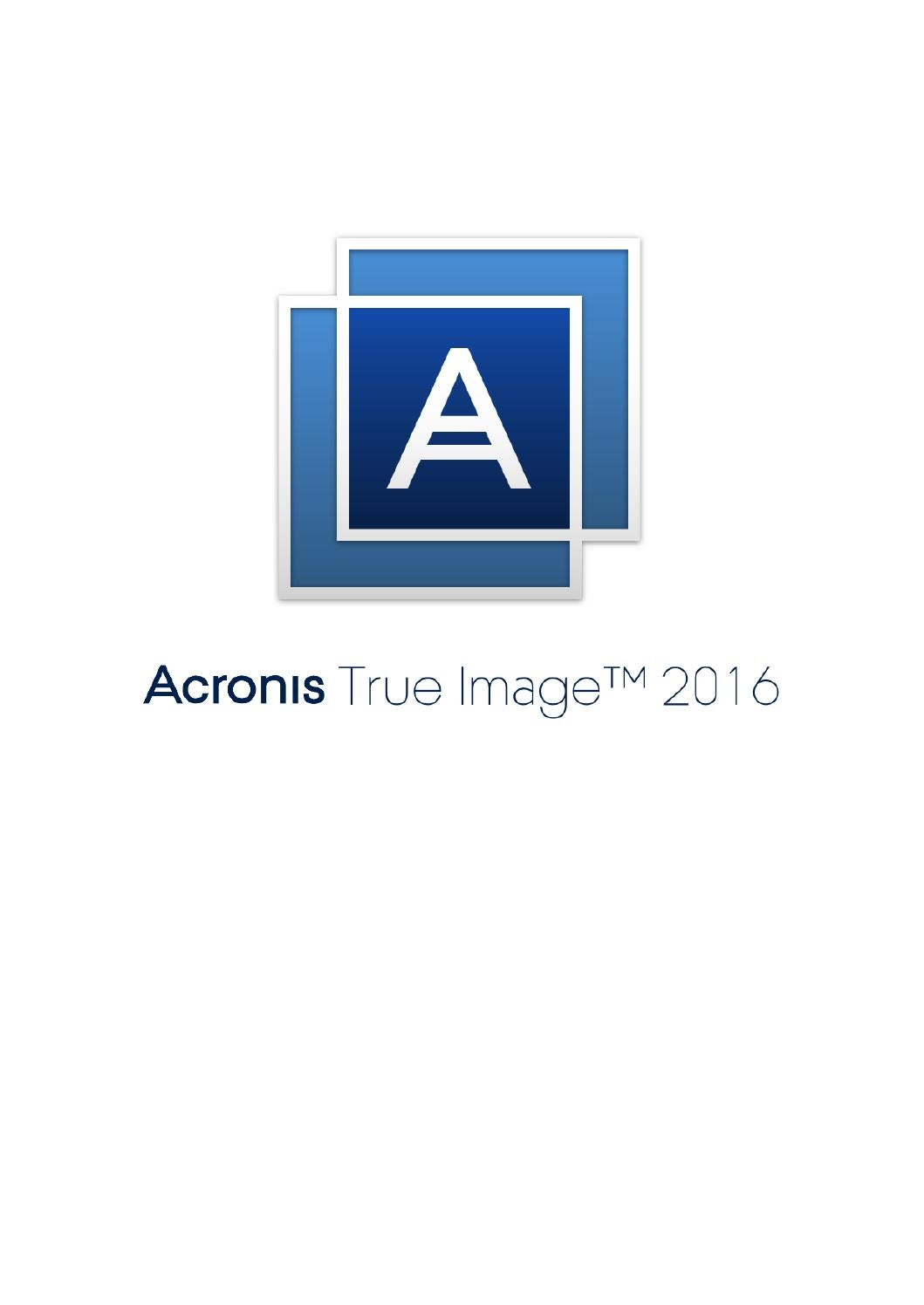 Acronis True Image 11 Manual