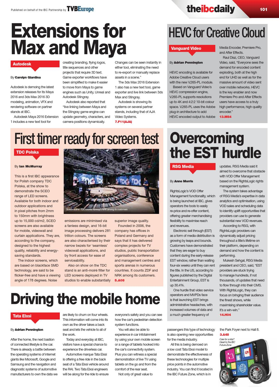 IBC2015 Daily D1 Friday 11 September by Future PLC - issuu