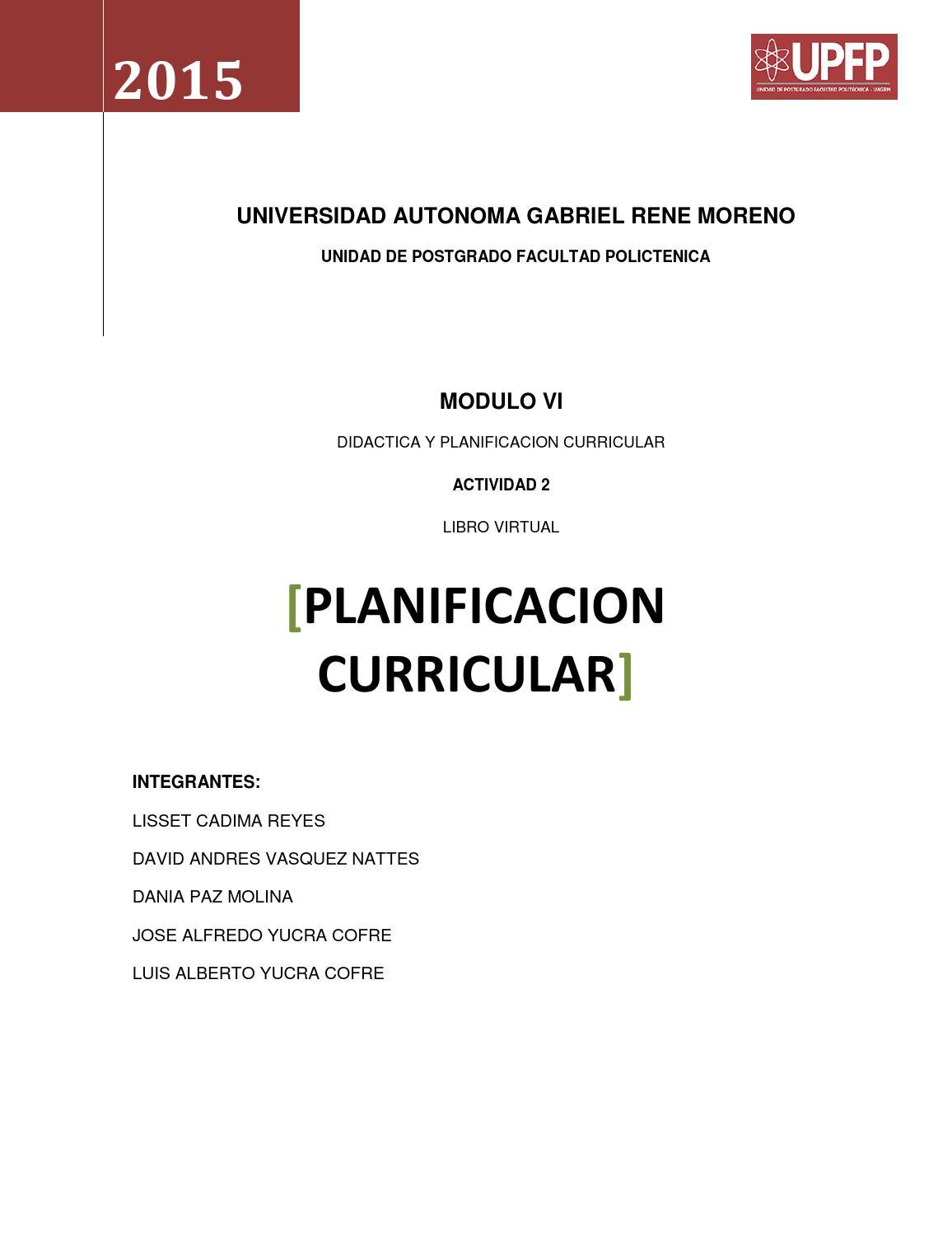 Planificacion curricular by Luis Alberto Yucra Cofré - issuu