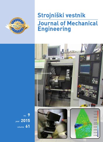 Journal of Mechanical Engineering 2015 9 by Darko Svetak - issuu