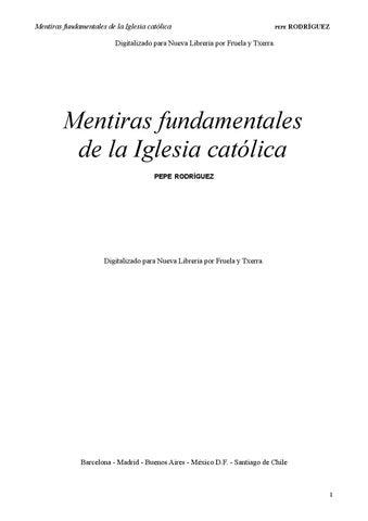 Mentiras Fundamentales De Iglesia Católica By Antonio Luiz Issuu