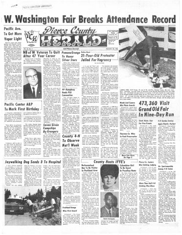 Pierce county herald v 21 no 49 aug 3, 1966 by Pacific Lutheran