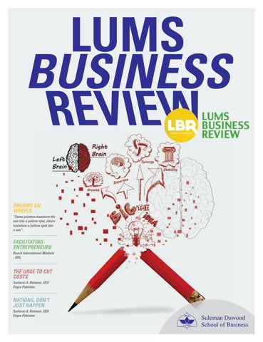 LUMS Business Review 2015 by Sidra Ahmed - issuu