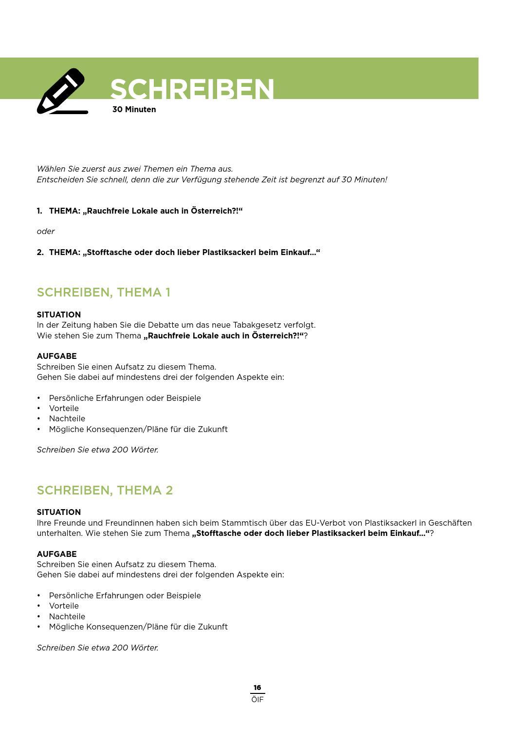 B2-ÖIF Übungstest 1 by Österreichischer Integrationsfonds - issuu