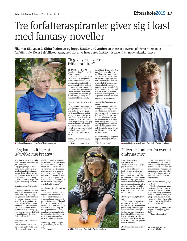 dda614466eb Efterskoletillæg by Kristeligt Dagblad - issuu
