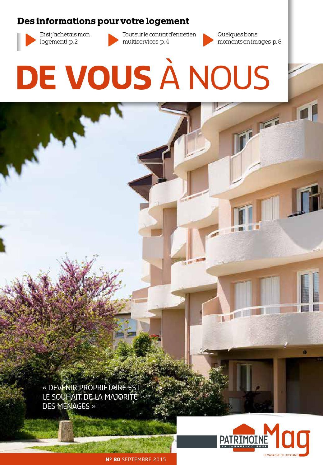 Refaire Salle De Bain Hlm ~ patrimoine sa languedocienne magazine de vous nous n 80 by