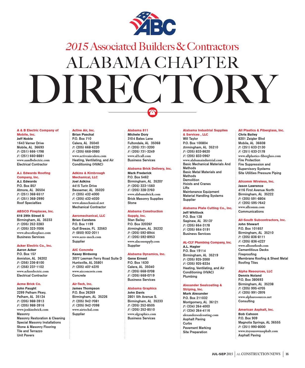 Alabama Construction News Magazine Q3 2015 By Abc Of