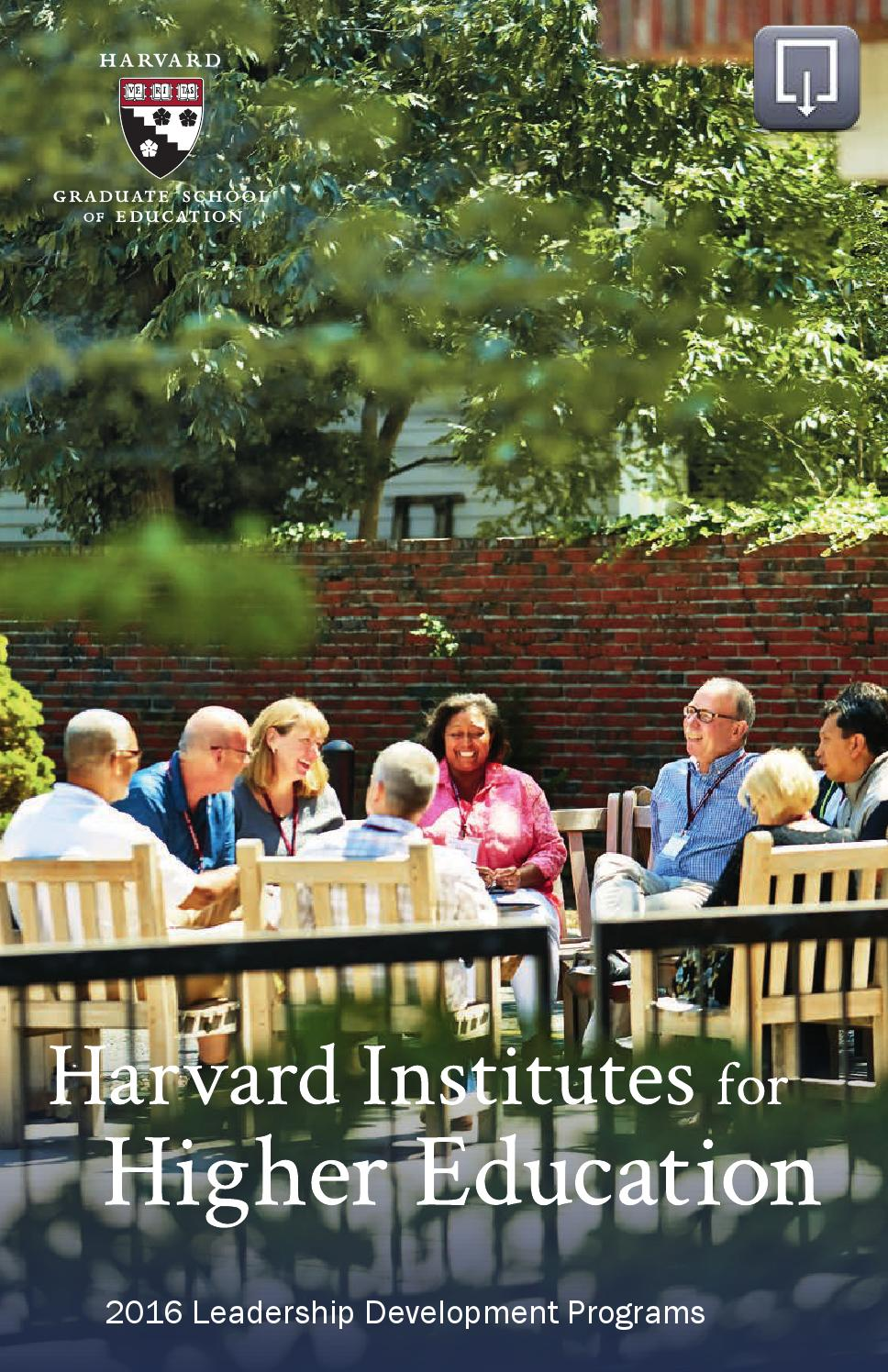 Harvard Institutes for Higher Education by Harvard Graduate