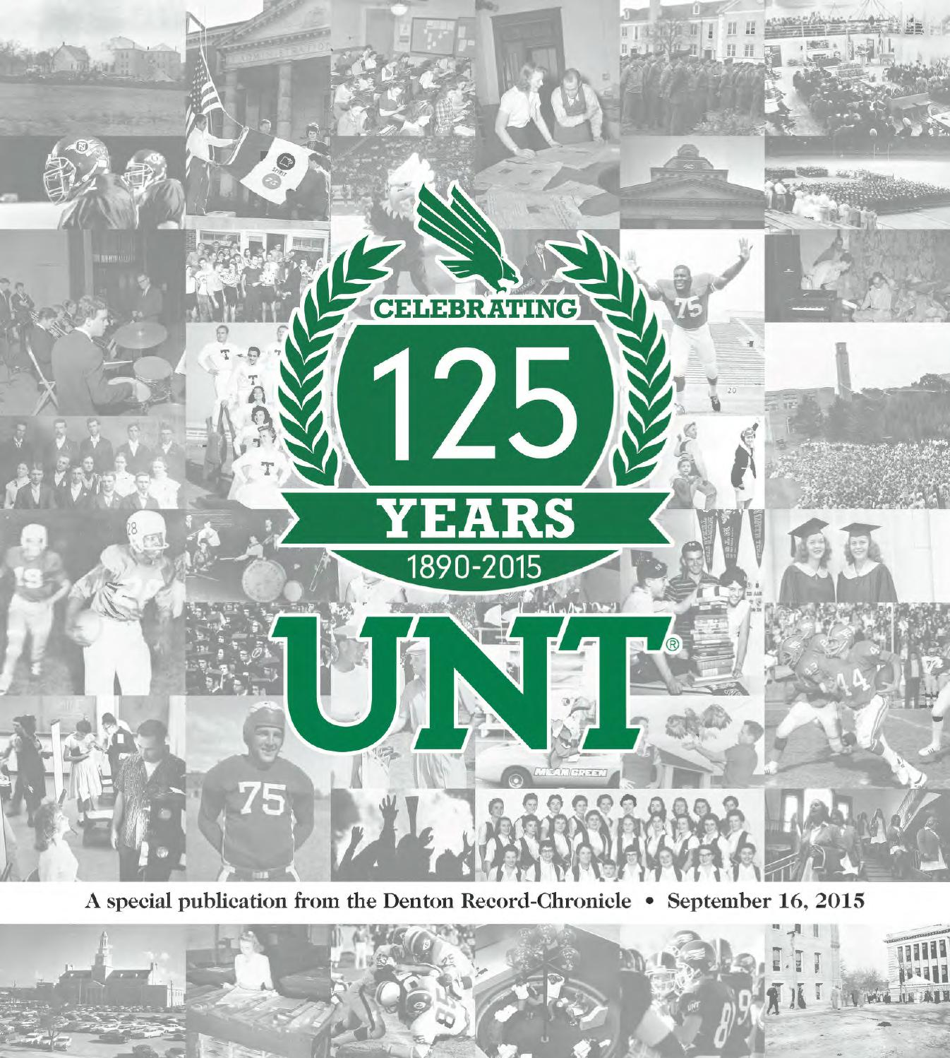 UNT 125th Anniversary by Larry McBride - issuu bbf03ea3694